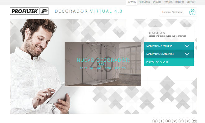 Profiltek presenta la versi n 4 0 de su decorador virtual for Decorador virtual hogar